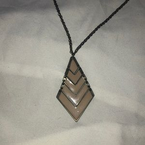 Necklace with geometric pendant
